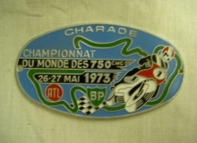 medaille concentration moto 1973 charade