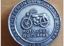 flamants medaille concentration moto 1986
