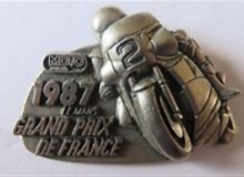 grand prix de france medaille concentration moto 1987