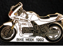bike week pins concentration moto 1992