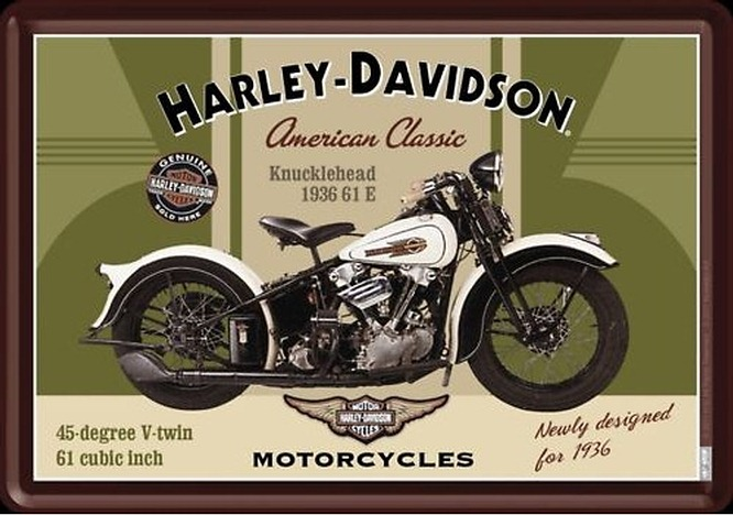 photos de moto by plaque tole emaillee moto harley. Black Bedroom Furniture Sets. Home Design Ideas