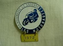 medaille concentration moto 1972 villeneuve