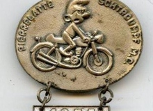 schtroumpf medaille concentration moto 1975
