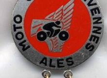 ALES-CEVENNES medaille concentration moto 1980