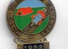 CEVENNES medaille concentration moto 1982