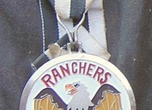 Ranchers medaille concentration moto 1984