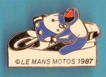 le mans medaille concentration moto 1987