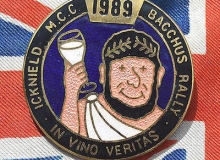 Icknield Bacchus medaille concentration moto 1989