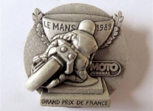 grand prix de france medaille concentration moto 1989