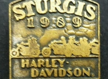 sturgis harley medaille concentration moto 1989
