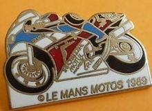 Le mans medaille concentration moto 1989