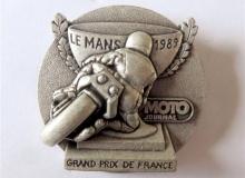 grand prix de france medaille concentration moto 1989