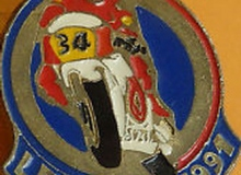 mans medaille concentration moto 1991