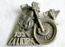 LICORNE medaille concentration moto 1991
