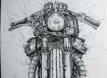 dessin moto trait
