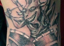 tatoo alien batteur