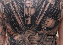 tatoo harley knucklehead