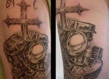 tatoo harley panhead