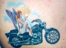 tatoo motard Ange