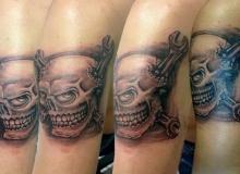tatoo skull cle plate
