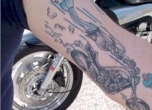 tatouage motard jbteam