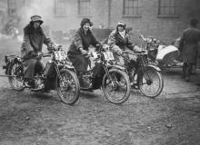 Vintage Women Motorcycles