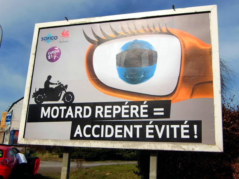Motard repéré = Accident évité